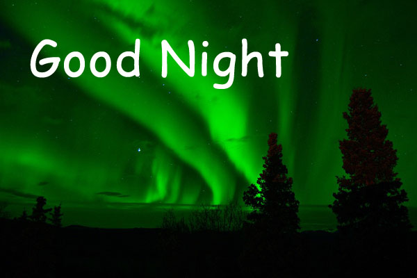 Good Night image with Green Background