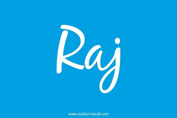 raj-name-blue-background