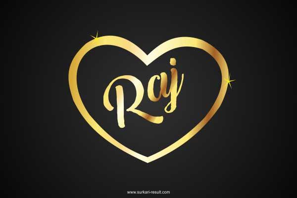 raj-name-image-golden-pendent