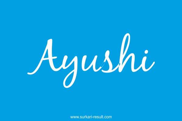 Ayushi-name-blue-background
