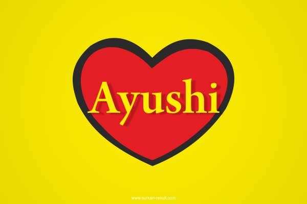 Ayushi-name-in-heart-yellow-red