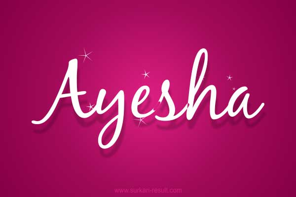 Ayesha Name image pink