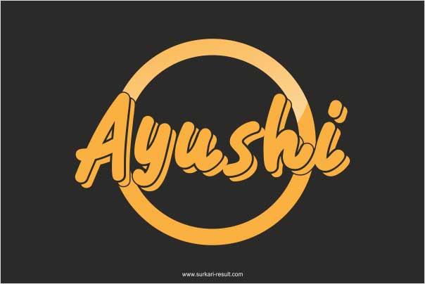 stylish-Ayushi-name-image-black