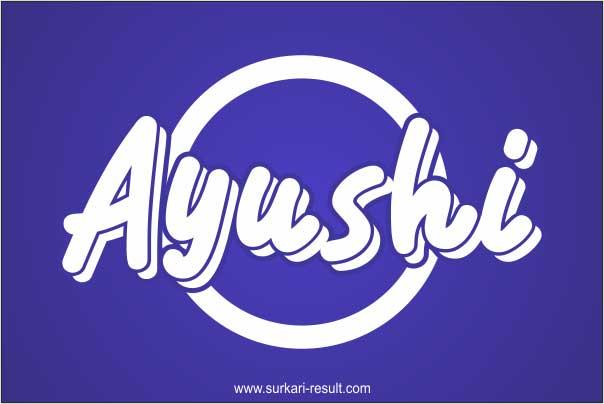 stylish-Ayushi-name-image-blue