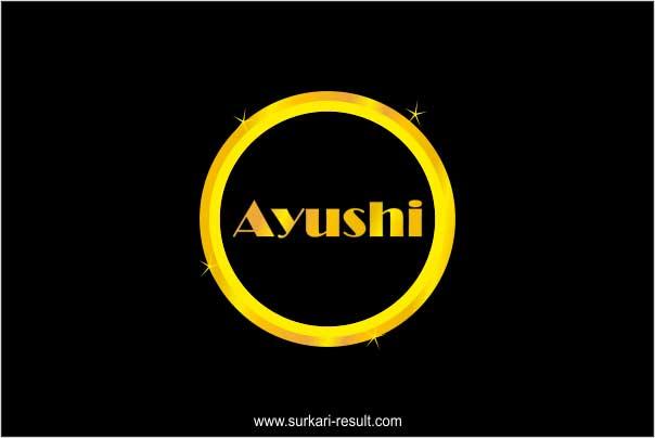 stylish-Ayushi-name-image-golden