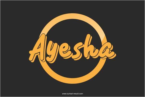 stylish-ayesha-name-image-black