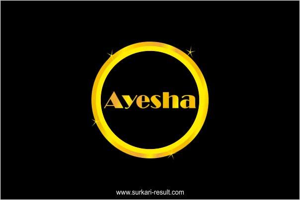 stylish-ayesha-name-image-golden