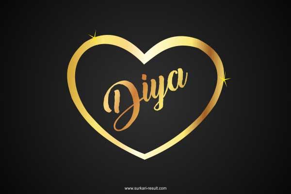 Diya-name-image-golden-pendent