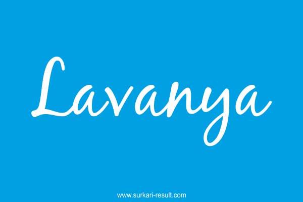 Lavanya-name-blue-background